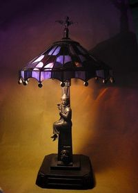 Haunted Mansion Stained Glass Lamp