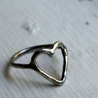 Sterling Silver Heart Ring $68