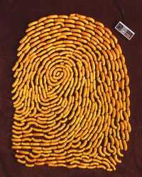 Neat fingerprint art out of miscellaneous products