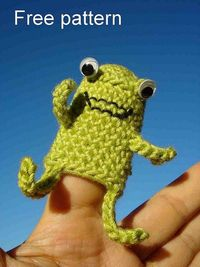 CHRISTMAS FINGER PUPPET PATTERNS | Crochet and Knitting Patterns