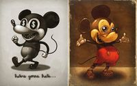 evil mickey mouse by Mike Mitchell