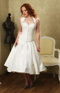 Bridal corset and fifties skirt