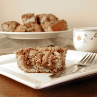 Cinnamon Streusel Coffee Cake: This delicious coffee cake is packed full of cinnamon and brown sugar.