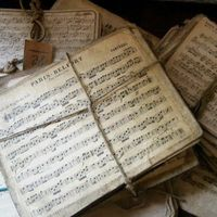 Vintage French sheet music.