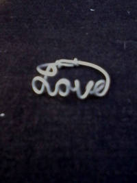 Steel Wire Love Ring Adjustable from etsy.com