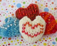 Wee Lil' Hearts #knitting #patterns