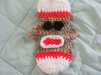 Sock Monkey Water Bottle Cozy by CreativeLorraine on Etsy, $4.50