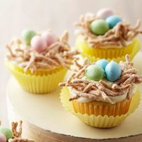 Cute Easter Nest Cupcakes