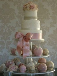 Pretty pale pink and ivory