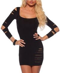 Sexy Long Sleeve Club Party Fitted Cocktail Mini Dress: Clothing
