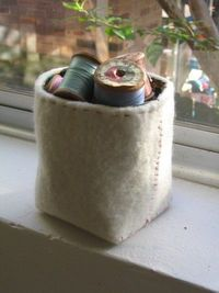A little felt box. The tutorial is here: http://applehead.typepad.com/applehead/2006/05/hey presto a li.html