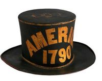 Paint Decorated Leather Parade Hat