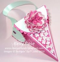 Petal cone candy holder