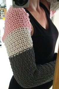 Crochet Patterns For Shawls With Sleeves : Crochet scarf - sleeves (free crochet pattern) / crochet ...