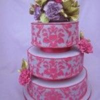 Damask Wedding Cake (Gumpaste)