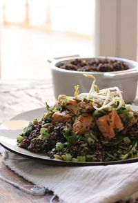 Salmon and Quinoa with Toasted Seeds