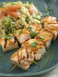 Salmon with Quinoa and Grapefruit Salad