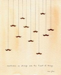 Mustasches on strings