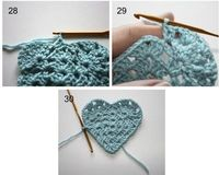 sweet crochet heart