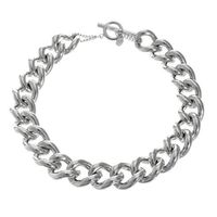 Silver Plated Link Necklace