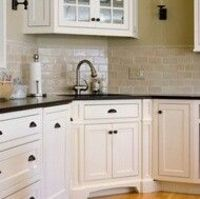 Off White Kitchen Cabinets With Subway Tile For My Kitchen Juxtapost