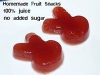 Updated homemade fruit snacks. No added sugar, 100% fruit juice.