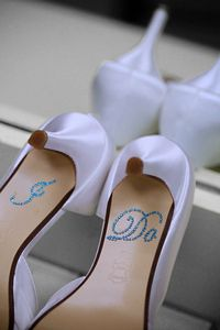 I DO Shoe Stickers in Blue....cute!