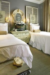 love shutters as headboards