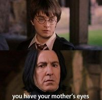 WIth a look like that how could Snape resist?