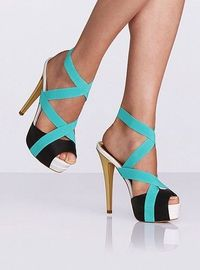 Color-block Elastic Sandals