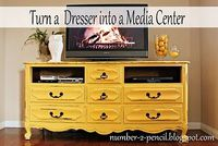 Turn an old dresser into a Media Stand!