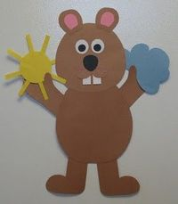 Groundhog with sun or cloud (could use snowflake or daffodil?)