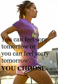 I will be feeling sore tomorrow after my work out