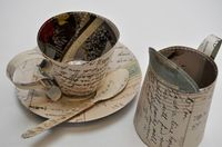Paper teacup with spoon