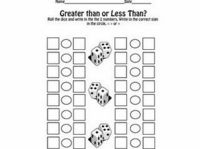 greater than/less than dice game