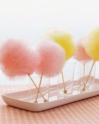 DIY Cotton Candy on Rock Candy Sticks by Martha Stewart