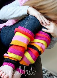 sweater sleeves into legwarmers