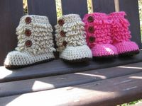 Crochet baby Ugg inspired boots......too cute!