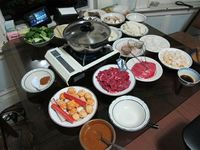 Our hot pot fixings, (western calendar) New Year's Eve 2011