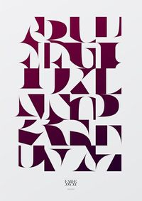 �ron Jancsó / some beautiful typography from the Hungary-based illustrator and designer.