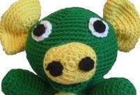 Pattern for child-safe crocheted eyes