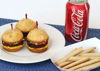 "Cupcake ""hamburger & fries"""