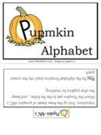 Pumpkin ABC sequencing game
