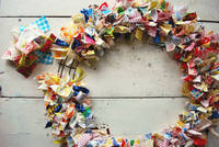 The Art of Homemaking: Scrap Fabric Wreath