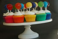 rainbow lolly cupcakes