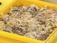 Spinach and Hot Ham Fake-Baked Pasta with a Crispy Top - so yummy!