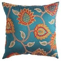 Pier 1 Embroidered Jacobean Floral Pillow Clearance $14.88