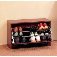 Cherry Finish Wood Shoe Storage Rack Organizer $72.83