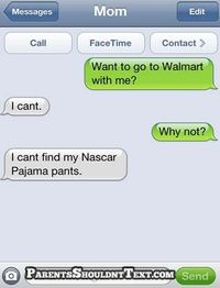 can't go to walmart