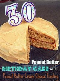 Peanut Butter Birthday Cake